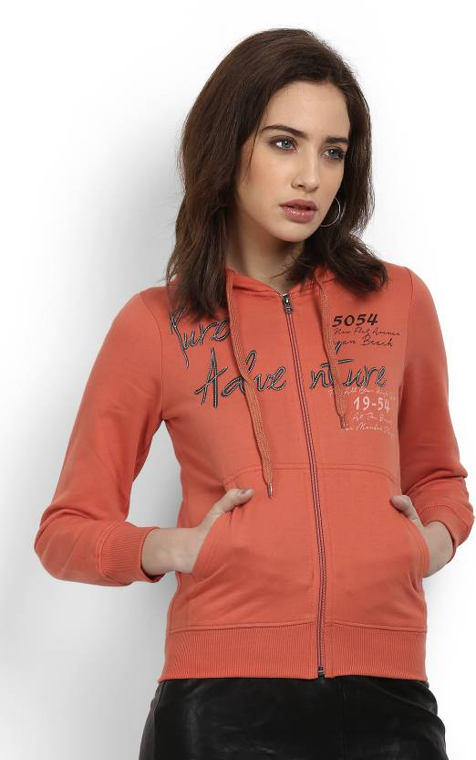 0f81aae8a6 Fort Collins Full Sleeve Self Design Women s Sweatshirt - Buy ORANGE Fort  Collins Full Sleeve Self Design Women s Sweatshirt Online at Best Prices in  India ...