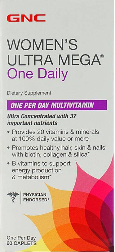 Gnc Women S Ultra Mega One Daily Multivitamin For Healthy Hair Skin And Nail