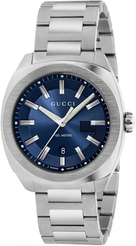 ae2268b7d06 GUCCI YA142303 Blue Dial Watch - For Men - Buy GUCCI YA142303 Blue Dial  Watch - For Men YA142303 Online at Best Prices in India