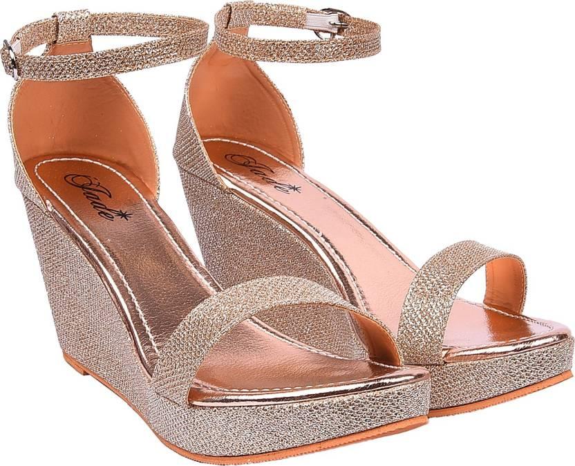 61d5d93b8962 Jade Women Rosegold Wedges - Buy Jade Women Rosegold Wedges Online at Best  Price - Shop Online for Footwears in India | Flipkart.com