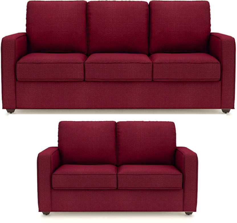 Primrose Eclipse Fabric 3 2 Maroon Sofa Set Price In India