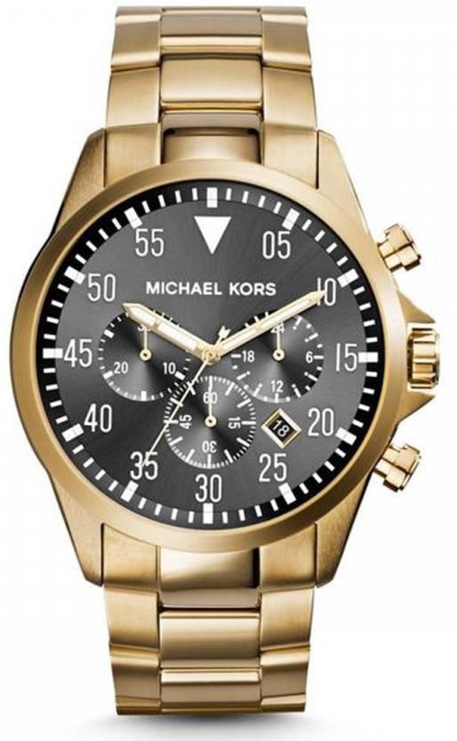 e8429cb9f912 Michael Kors MK8361 Gage Chronograph Black Dial Gold-Tone Watch - For Men -  Buy Michael Kors MK8361 Gage Chronograph Black Dial Gold-Tone Watch - For  Men ...