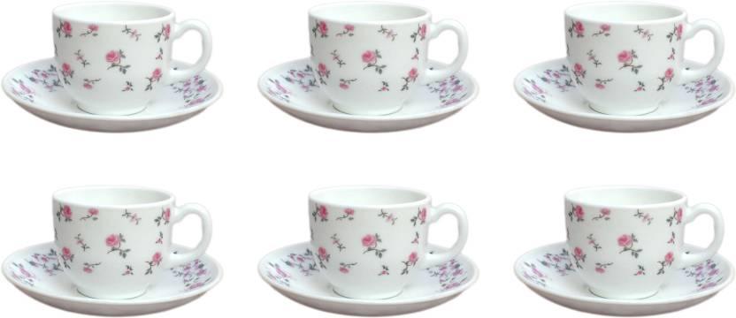 Cello Rose Fentasy Tea Coffee Cup Saucer 160 Ml Gl