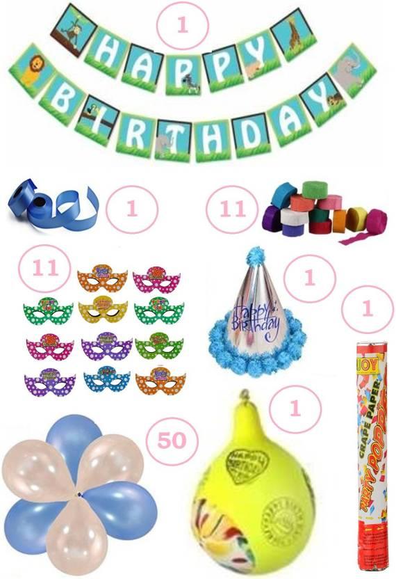 Factory 21 Multicolor Birthday Decoration Kit