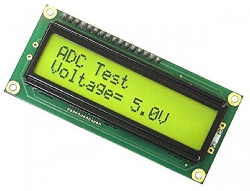 TechWiz LCD 16x2 Alphanumeric Yellow Display(JHD162A) for  8051,AVR,Arduino,PIC,ARM and Other MCU Educational Electronic Hobby Kit