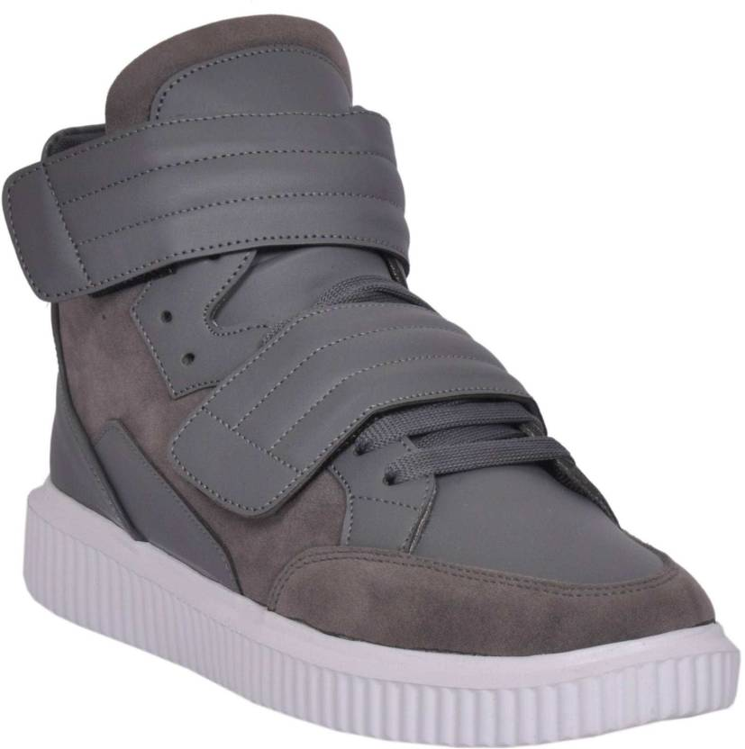 42b18a8b6bd770 West Code Westcode Mens Boots Synthetic Suede leather High Top Casual Sneaker  Online Shoes R-096-Grey-7 Sneakers For Men (Grey)