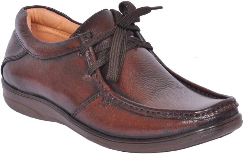 b3e292ff53b Zoom Zoom Office Shoes For Men Genuine Leather Dress Formal Shoes Online D -2570-Brown-9 Lace Up For Men (Brown)