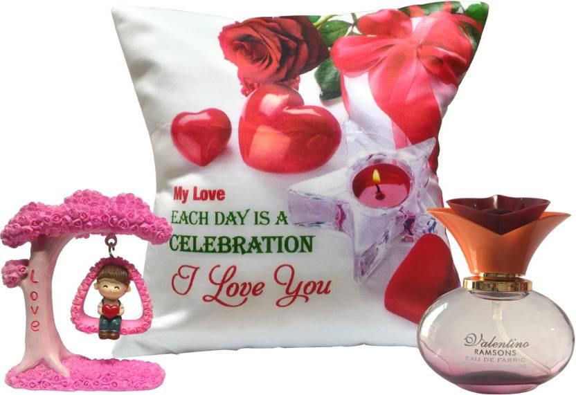 Saugat Traders St0003294 Cushion Perfume Showpiece Gift Set Price