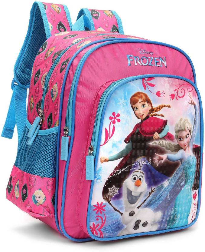 5e17bb6fd76 Disney Frozen Trio Pink and Blue 16    School Bag (Pink