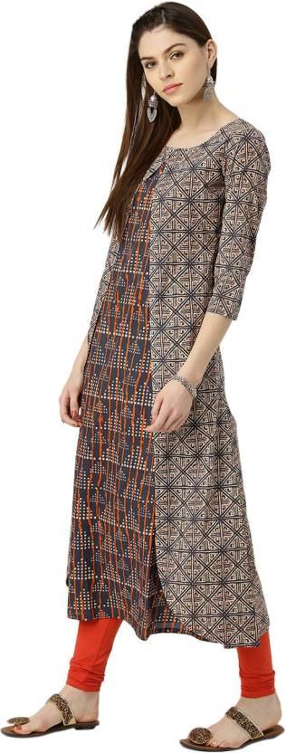 ea108e62f74 Libas Women s Abstract A-line Kurta - Buy Multicolor Libas Women s ...