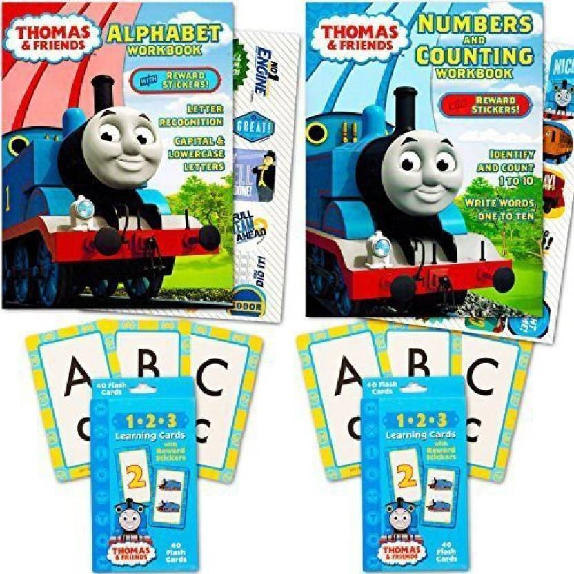Thomas & Friends The Train Flash Cards And Workbook Super