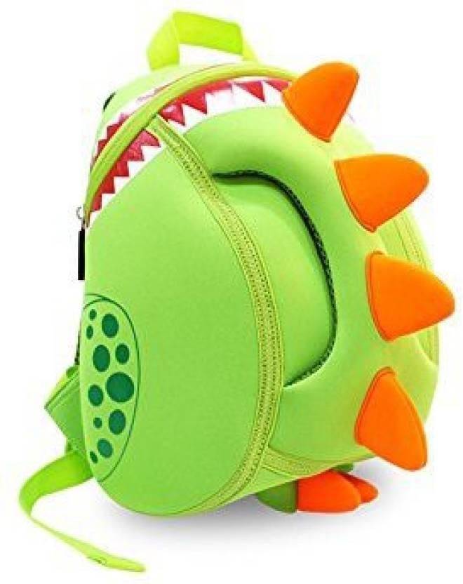 Angelwing Baby Kid School Bags Waterproof 3D Dinosaur Fancy Bags Waterproof  For 2-5 Years Old (Multicolor)