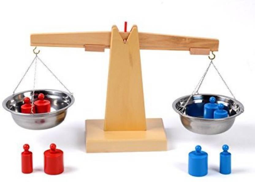 38cad09c2b72 YiGooood Montessori Wooden Balance Beam Weighing Scale Sensorial ...