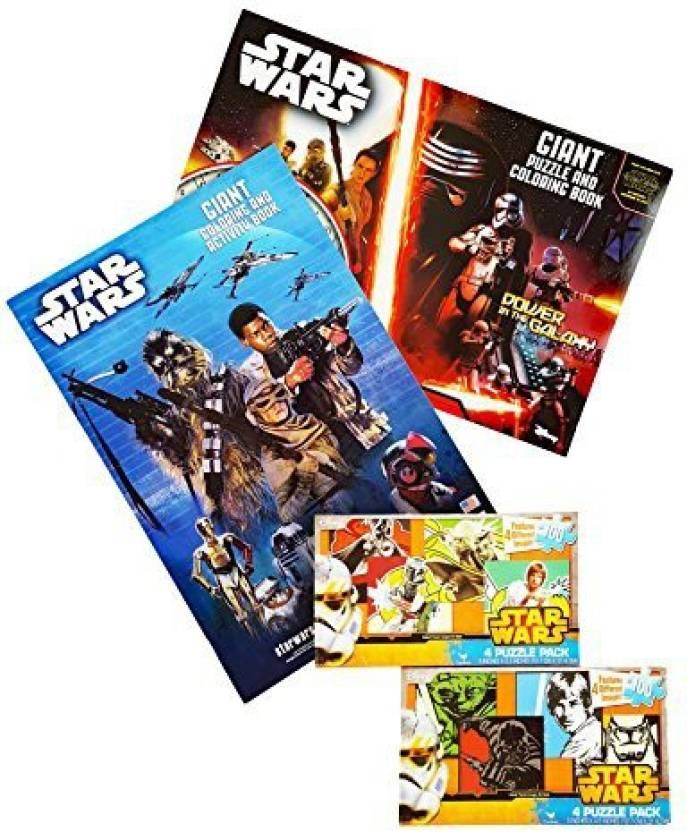 Star Wars The Force Awakens 2 Giant Coloring Books Plus Free Bonus