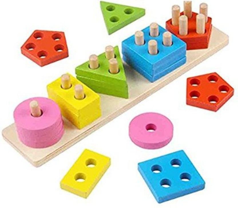 Kids Geometric Shape Frame Sticks Kit w// Box Math Geometry Educational Toy