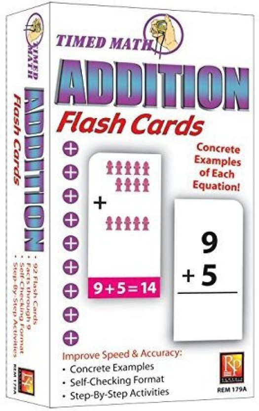 REMEDIA PUBLICATIONS Timed Math Addition Flash Cards Price in India
