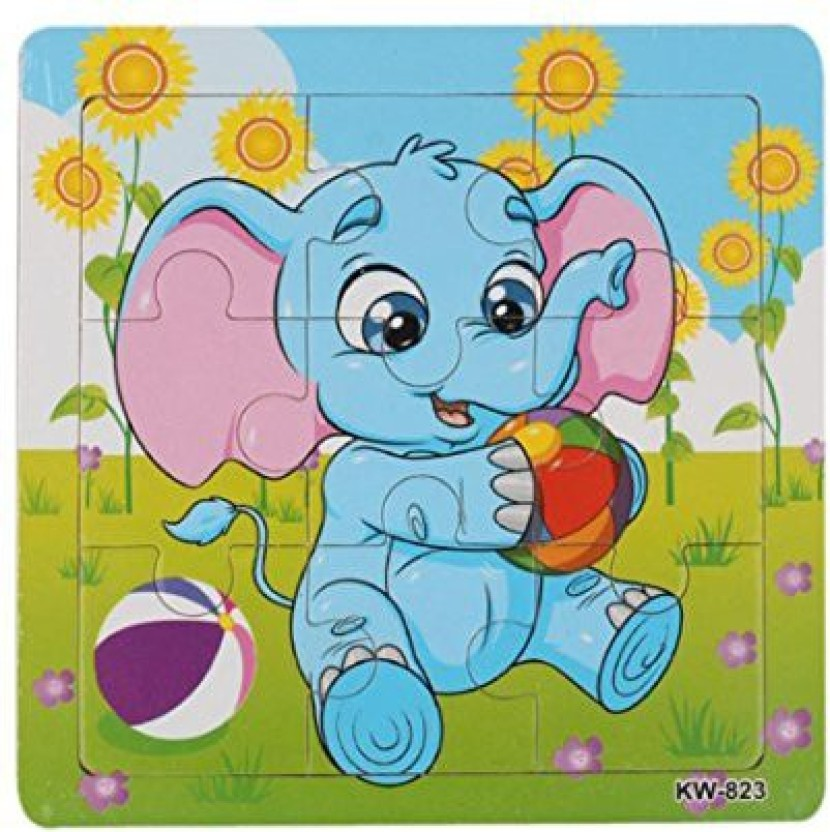 Newest Wooden Elephant Jigsaw Toys For Kids Education And Learning Puzzles Toys