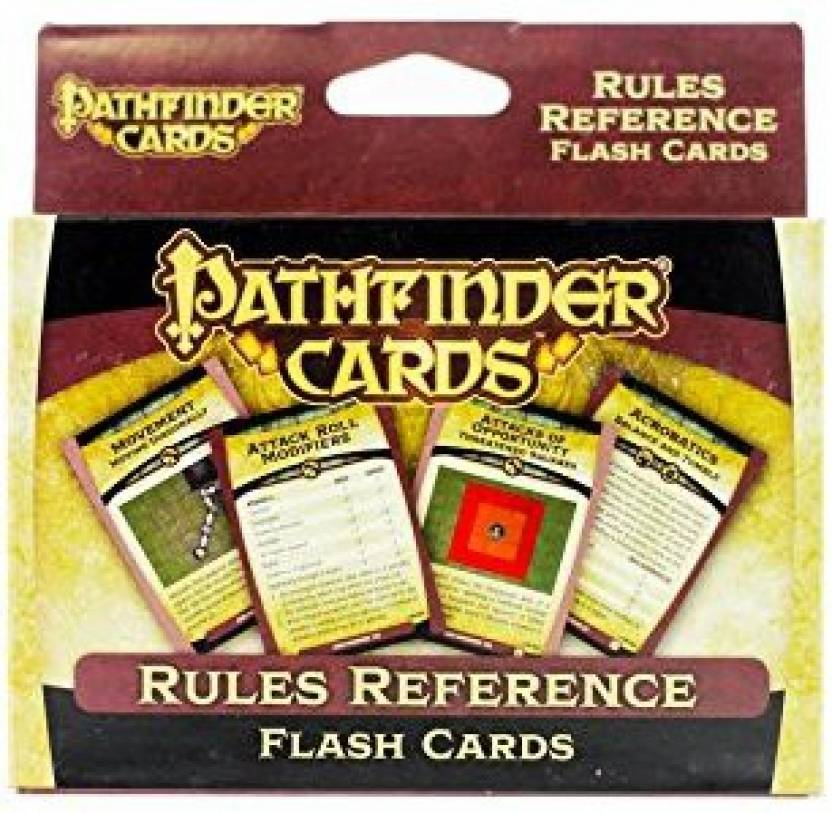 Paizo Inc Pathfinder Cards: Rules Reference Flash Cards Double Deck