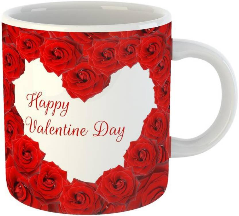 Mugs4you Best Rose Love Heart Valentine Day Propose Day Gift Rose