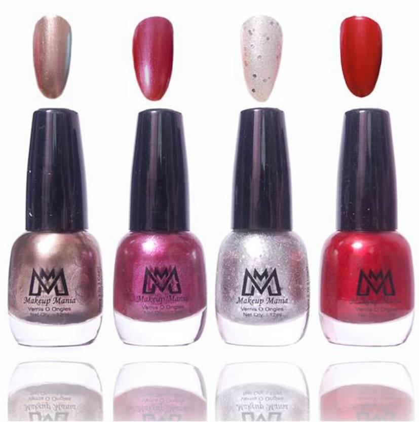 Makeup Mania Premium Collection Nail Polish - Combo of 4 Frost Shine ...