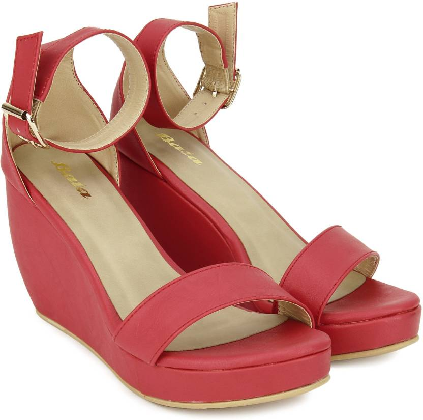 a3399cd21cc4 Bata Women Red Wedges - Buy Red Color Bata Women Red Wedges Online at Best  Price - Shop Online for Footwears in India   Flipkart.com