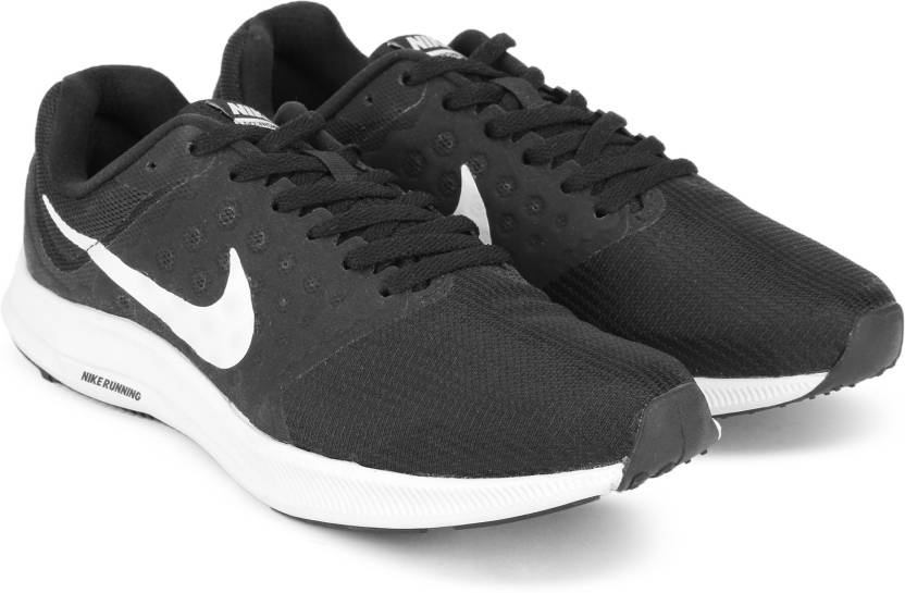 Nike DOWNSHIFTER 7 Running Shoes For Men - Buy BLACK WHITE Color ... aa6e3c5f165