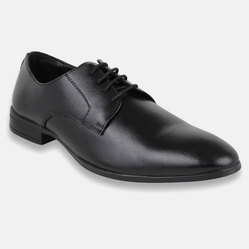 151ce9eab599c4 Foax Men's Leather Brogue Formal Shoes Black Color Lace Up For Men (Blue)