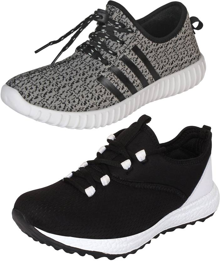 5a70b44e2ee5d9 Aero 02 Pair Combo Power Play Running and Canvas Sneakers For Men