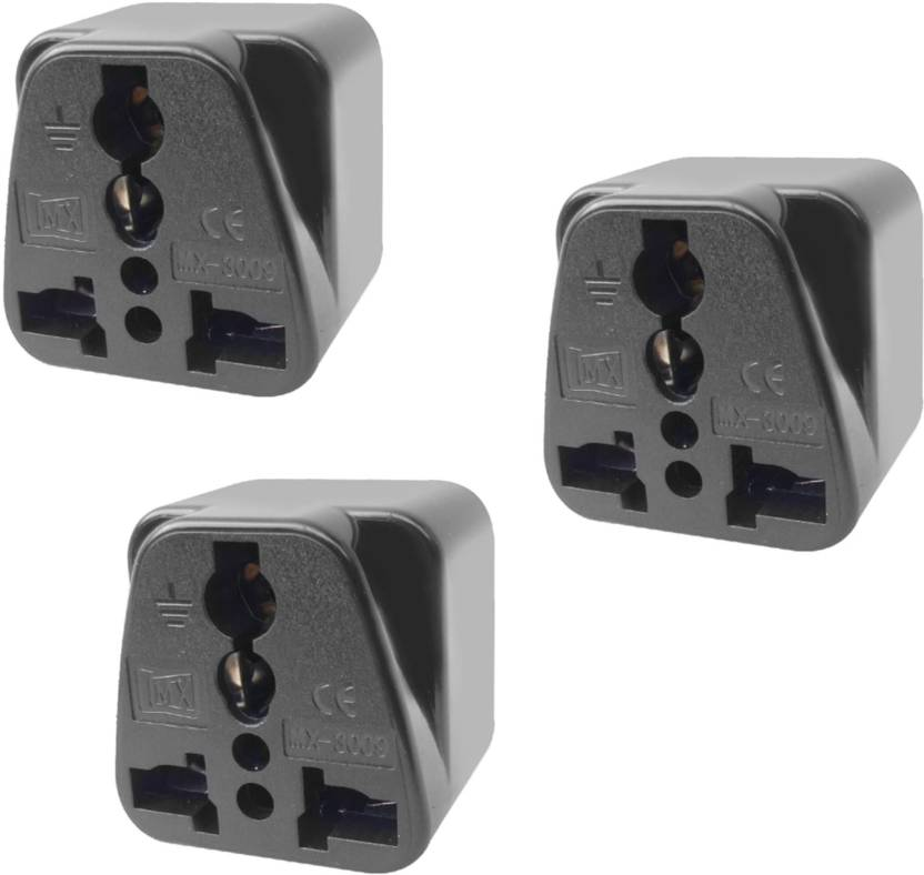 Gadget Wagon 10 Amps Eu Us Uk China Australi To America 3 Pin Converter Worldwide Adaptor Black