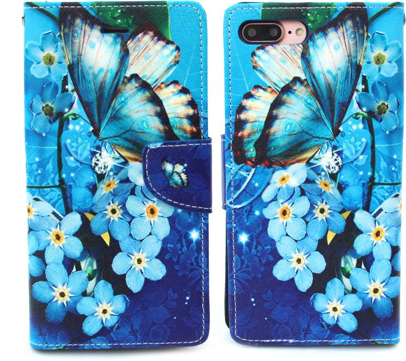 Fashion Flip Cover for Apple iPhone 7 Plus Multicolor