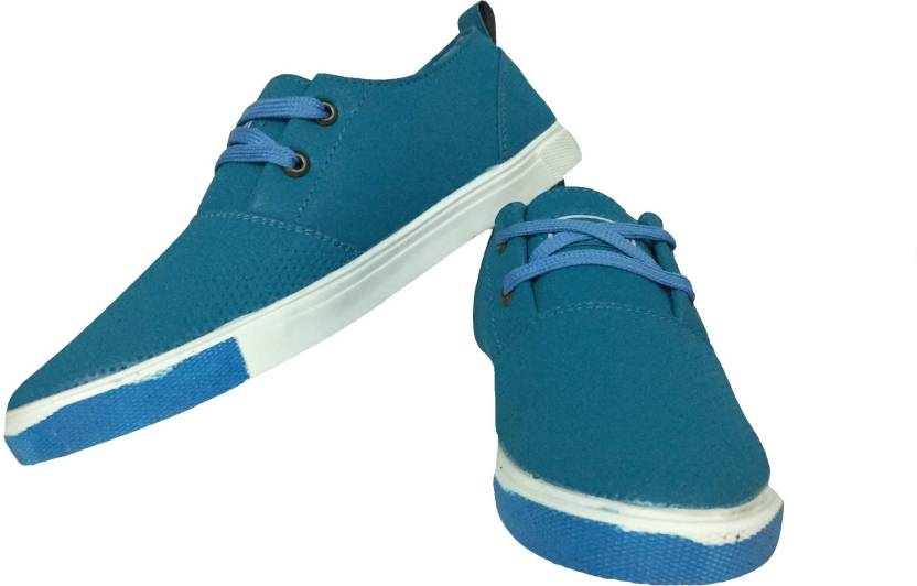 Joshishoes Sky Blue Colour Rubber Sneakers For Men Casuals