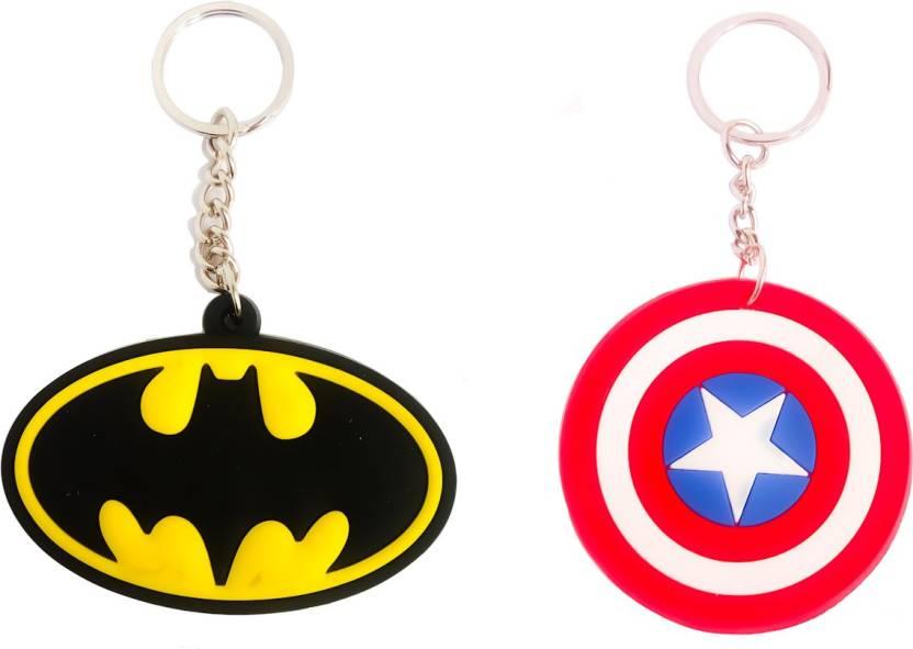 shoptop Rubber keychain Combo ( Captain America Shield   Batman) Key Chain  Price in India - Buy shoptop Rubber keychain Combo ( Captain America Shield  ... 6e8dfde5f6