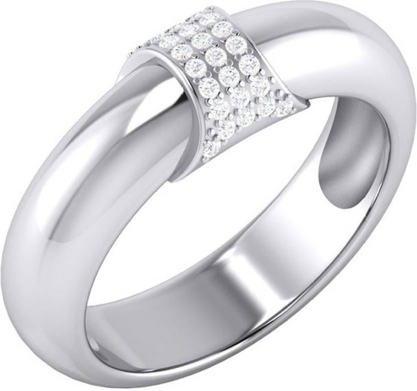9a1884ab9d388 Voylla Stylish Sterling Silver Swiss Zirconia Studded Ring For Men ...