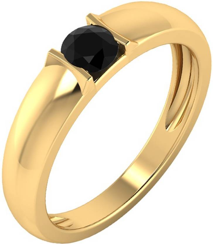 a49ee86cb5afa Voylla 925 Sterling Silver Ring Encrusted With Black CZ Sterling Silver  Cubic Zirconia Yellow Gold Plated Ring Price in India - Buy Voylla 925  Sterling ...