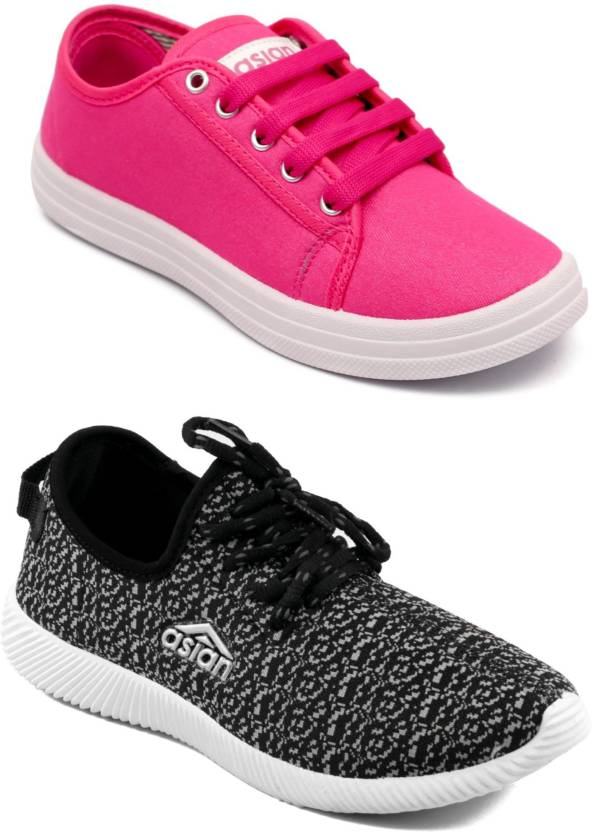 44caaf692d Asian women s casual shoes combo pack of 2 Casuals For Women (Multicolor)