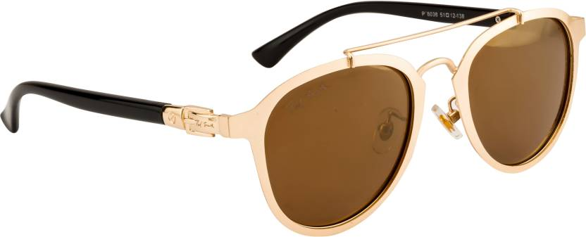 900a66a6f73 Buy Ted Smith Aviator Sunglasses Brown For Men   Women Online   Best ...