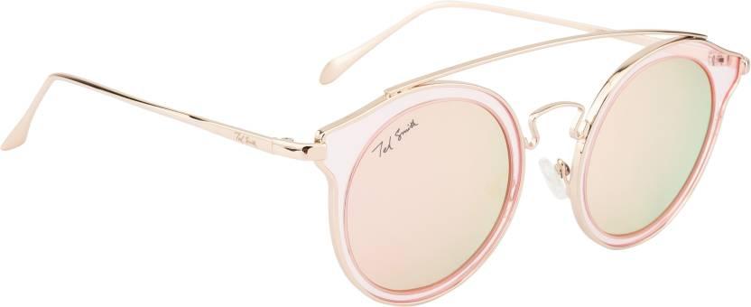 13334b82e1a Buy Ted Smith Oval Sunglasses Blue