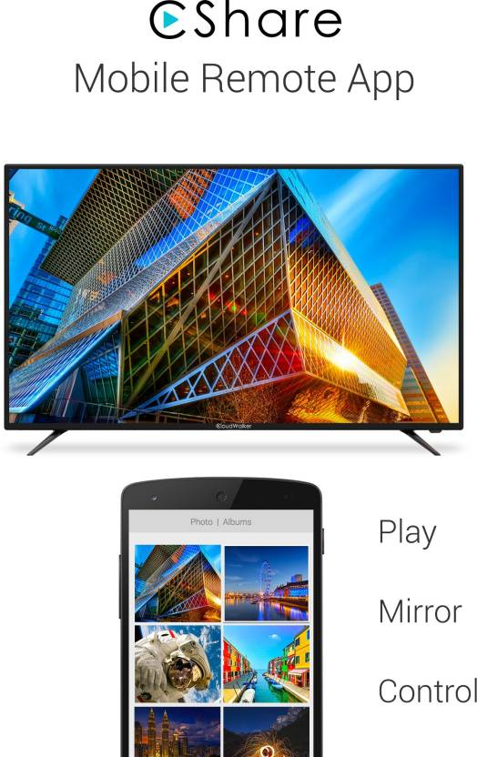 Best Smart TV's Under 50000Rs - CloudWalker CloudTV 139cm (55 inch) Ultra HD (4K) LED Smart TV  (CLOUD TV 55SU)