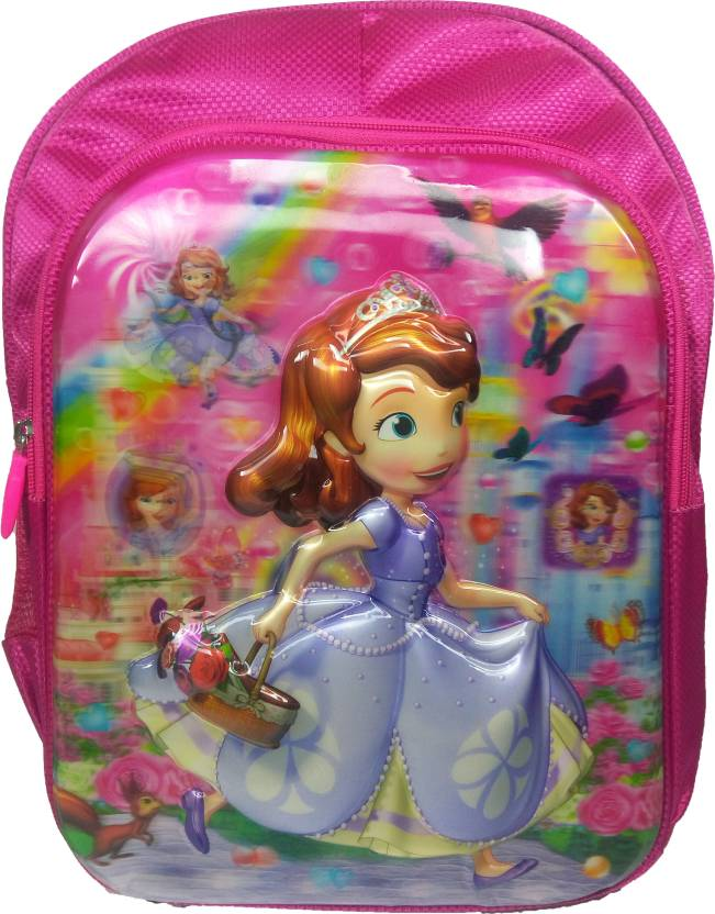 48fcbd64d7 Barbie 3D Sofia school bag for girls class standard LKG UKG 1 2 3  Waterproof School Bag (Pink