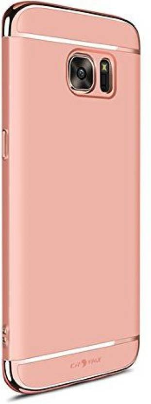 VARAJ Back Cover for Samsung Galaxy S7 Edge Gold