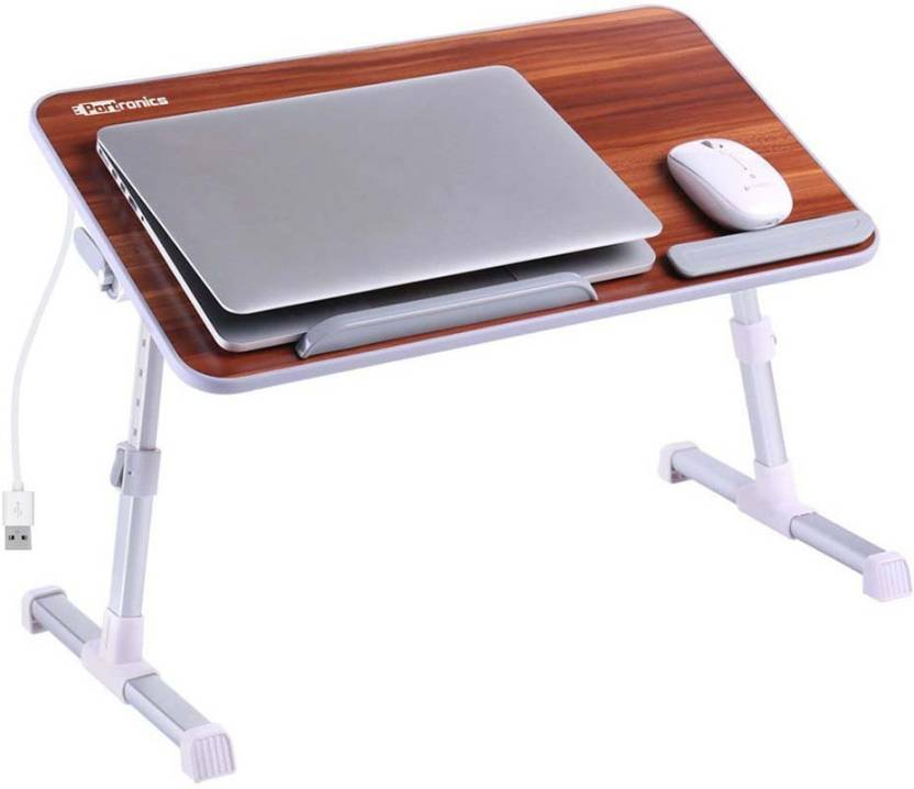 Portronics Laptop Cooling Stand Engineered Wood Portable Table
