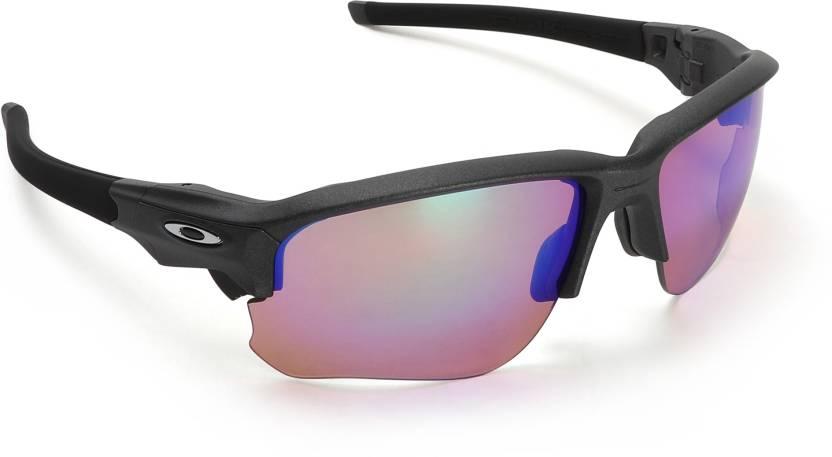 4514874e0bc Buy Oakley FLAK DRAFT Rectangular Sunglass Red For Men Online   Best ...