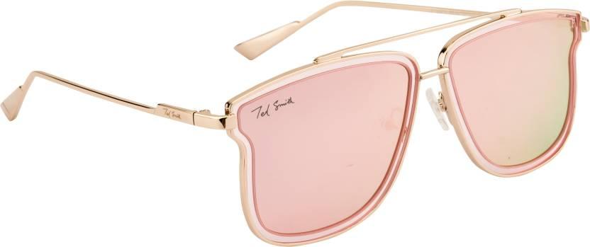 be08e35f2f1 Buy Ted Smith Wayfarer Sunglasses Pink For Men   Women Online   Best ...