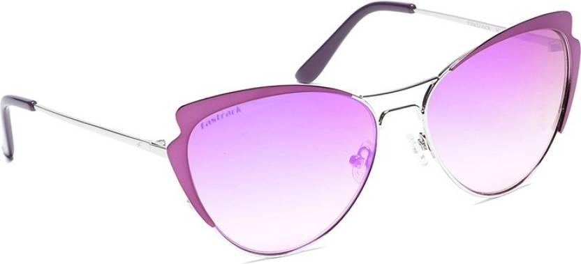 3172484e7e Buy Fastrack Cat-eye Sunglasses Brown For Women Online   Best Prices ...