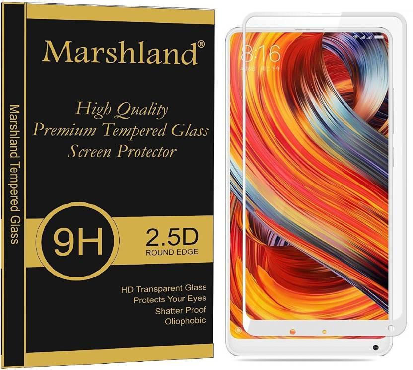 Marshland Edge To Edge Tempered Glass for Xiaomi Mi Mix 2 Tempered Glass Full Cover Edge