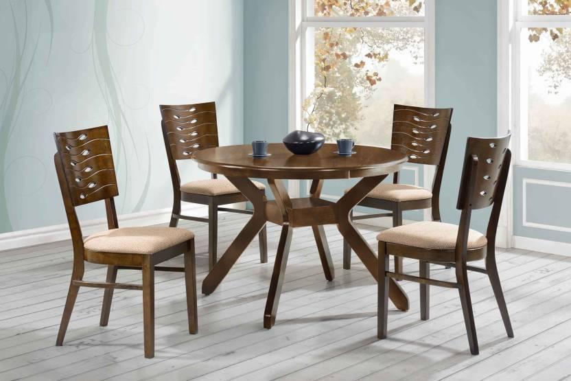 Royaloak Sydney Solid Wood 4 Seater Dining Set Price In India Buy