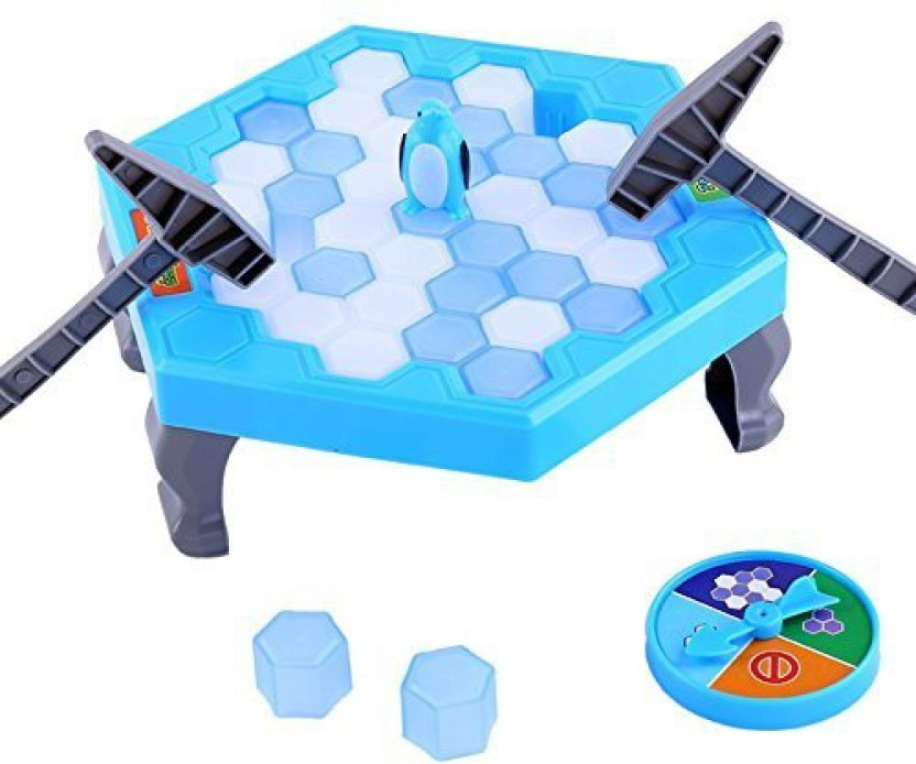 PERTTY Penguin Trap Game Ice Breaking Blocks Puzzle Game Table Balance Ice Cubes for Kids Family Fun Game