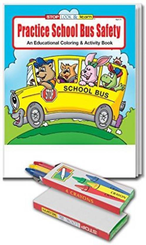 Safety Magnets Practice School Bus Kid\'S Coloring & Activity Book ...