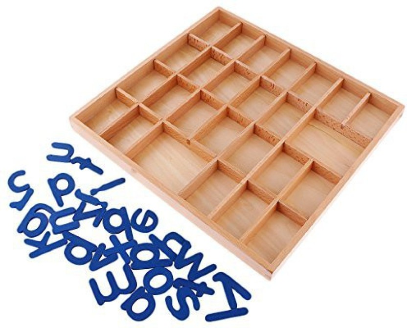 Montessori Movable Alphabets Box Letters Wood for Kids Early Education Toy