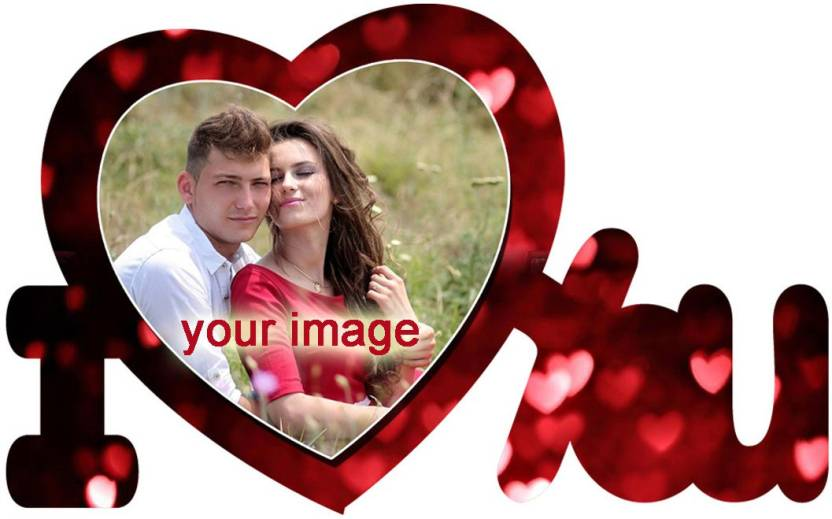 Personalised Love Frame Mdf Photo Multicolor 1 Photos